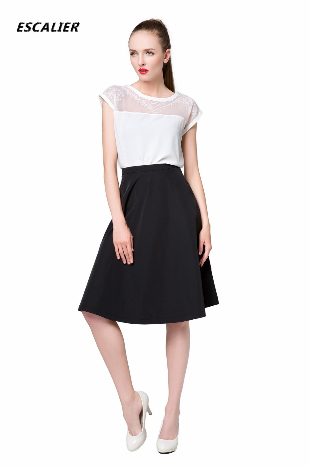 Online Shop ESCALIER 2016 Spring Summer fashion A-line skirts ...
