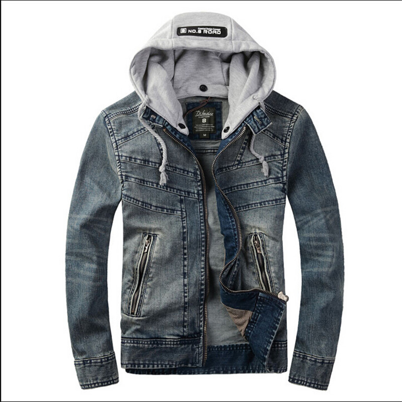 Compare Prices on Mens Hooded Denim Jacket- Online Shopping/Buy