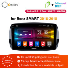 Ownice K1 K2 K3 K5 K6 Android 9.0 Octa Core Car DVD GPS for Mercedes Benz Smart 2016 2017 2018 Autoradio GPS with Radio RDS 4G(China)