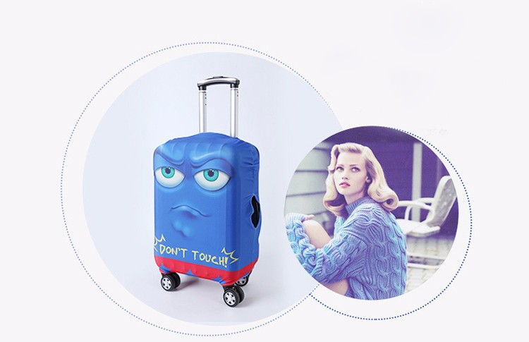 TRIPNUO Thicker Blue City Luggage Cover Travel Suitcase Protective Cover for Trunk Case Apply to 19''-32'' Suitcase Cover 11