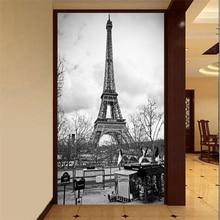 Beibehang personalizado 3 d de papel de pared muebles decorativos wallpaper foto de lujo sala de estar porche la Torre Eiffel 3 d papel pintado