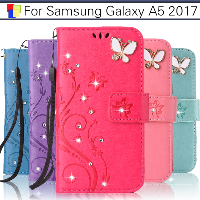 EiiMoo Luxury Wallet For Funda Samsung Galaxy A5 2017 Case Leather Flip For Coque Samsung A5 2017 Case Cover PU Capa Phone Shell ...