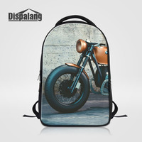 Dispalang Stylish Men Large Capacity Laptop Backpack Motorcycle Print College School Bag Casual Womens S Backpacks