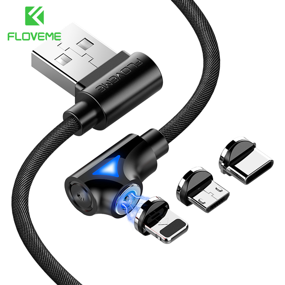 pretty nice 8466f 95258 US $1.99 20% OFF|FLOVEME (L Type) 1M Magnetic USB Cable For iPhone Charge  Micro USB Type C For Samsung Galaxy S9 Plus Note 9 USB C Charger Cable-in  ...
