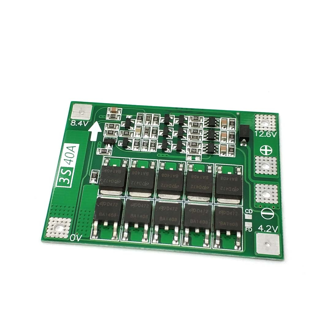 3S 40A Li-ion Lithium Battery Charger Protection Board PCB BMS For Drill Motor 11.1V 12.6V Lipo Cell Module(Enhanced Version)