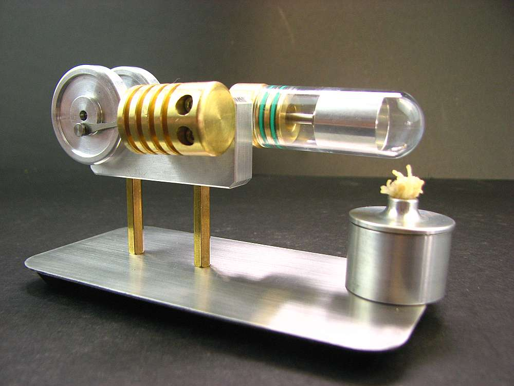 Metal Stirling engine model Mechanical model  Stryn engine science toy djeco лото дом