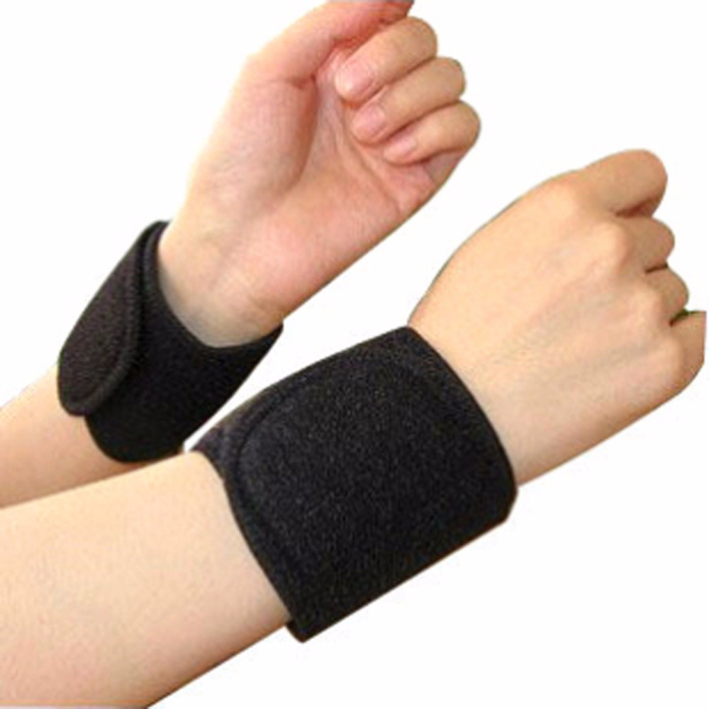 1 pairs 2018 New Power Magnetic Therapy F.I.R Heat Wrist Brace Care Support Strap Pain Relief wholesale