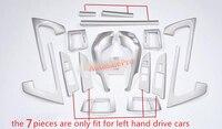 19 шт. аксессуары для интерьера приборной панели двери кондиционер весь комплект чехол Накладка для Toyota Land Cruiser LC200 2008 2009 2010 2015