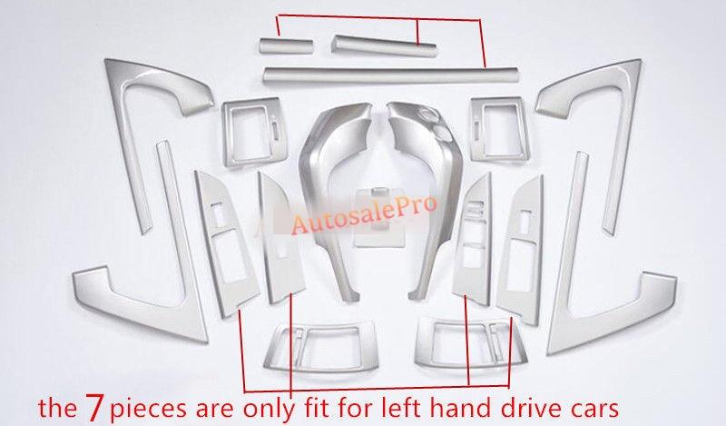 19 pcs Accessoires Intérieur tableau de Bord Porte Climatisation Kit Tout Couverture Garniture pour Toyota Land Cruiser LC200 2008 2009 2010-2015
