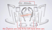 19 шт. аксессуары для интерьера приборной панели двери кондиционер весь комплект чехол Накладка для Toyota Land Cruiser LC200 2008 2009 2010 -2015