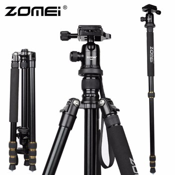 Zomei Z688 Professional Photographic Travel Compact Aluminum Heavy Duty Tripod Monopod&Ball Head for Digital DSLR Camera Z688