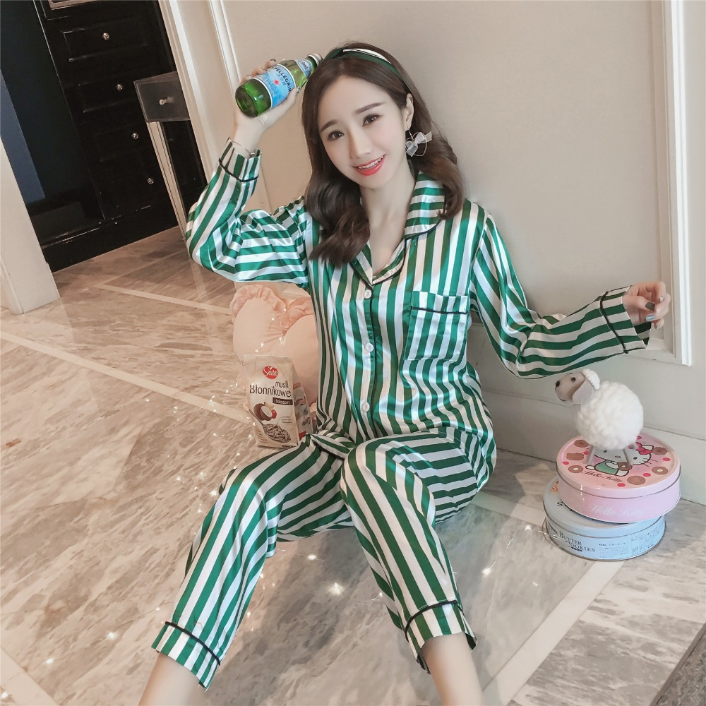 Pajamas Suit Women Casual Pajamas Set Soft Cotton Sleepwear Autumn Winter Pajama Top and Sleep Bottoms Pajama Female Nightwear