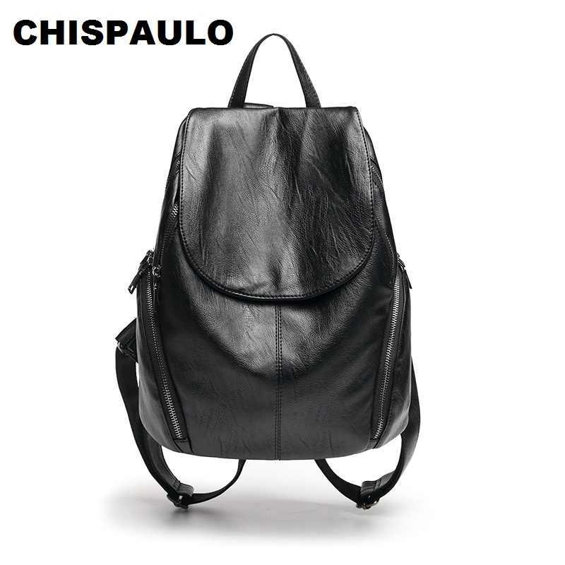 Luxo preto mochila feminina couro genuíno padrão de crocodilo feminino mochila elegante senhora ombro sacos de escola para meninas n033