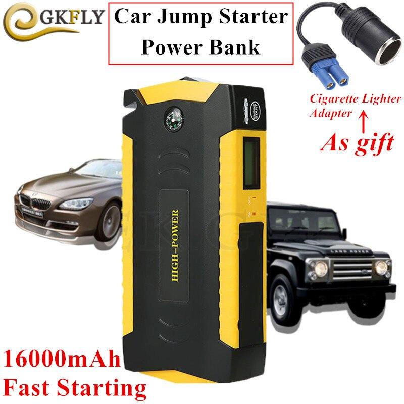 Chargeur de voiture portatif de démarreur de voiture de la capacité élevée 16000mAh 12V 600A pour le démarreur Diesel d'essence de propulseur de batterie de voiture