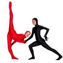 SPEERISE Children Face Open Black Zentai Kids Suits One Piece Tights Full Body Boys Lycra Spandex Nylon Girls Costumes