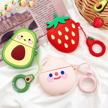 Cartoon 3D Fruit Earphone cases For Apple airpods 1/2 Soft Silicone Cute Avocado Strawberry Headphone Case Charging Box Cover toy story costumes adult