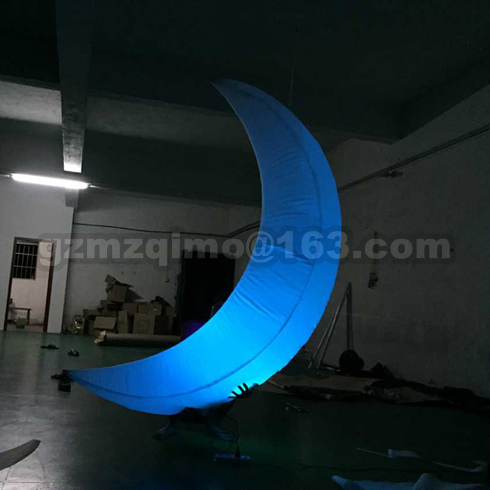 Color changing LED lighting Inflatable moon Inflatable Crescent moon stage decorative party decoration Inflatabl moonColor changing LED lighting Inflatable moon Inflatable Crescent moon stage decorative party decoration Inflatabl moon