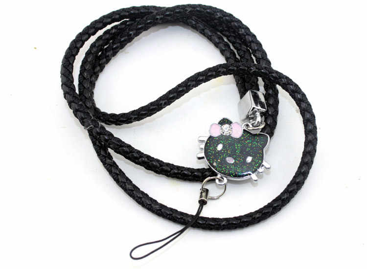 10 pçs/lote 46 cm Olá Kitty Charme Tecer Couro PU Estilingue Pendurado Corda Celular Chave Da Cadeia de Cartões Cintas Da Câmera Acessórios