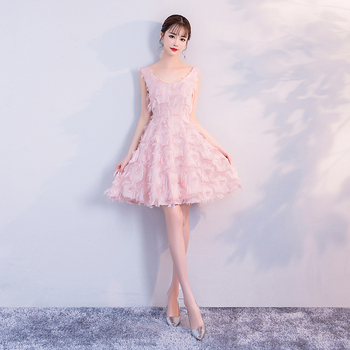 Bridemaid Dress  Pink Color Mini Women Wedding Party