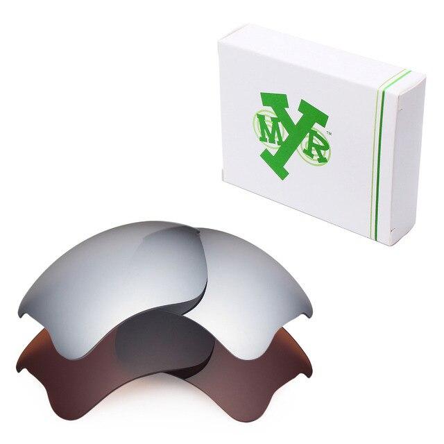 2 Pairs MRY ПОЛЯРИЗОВАННЫЕ на Замену Линзы для Бронежилет Xlj Солнцезащитные Очки Oakley Серебро Титан & Бронзовый