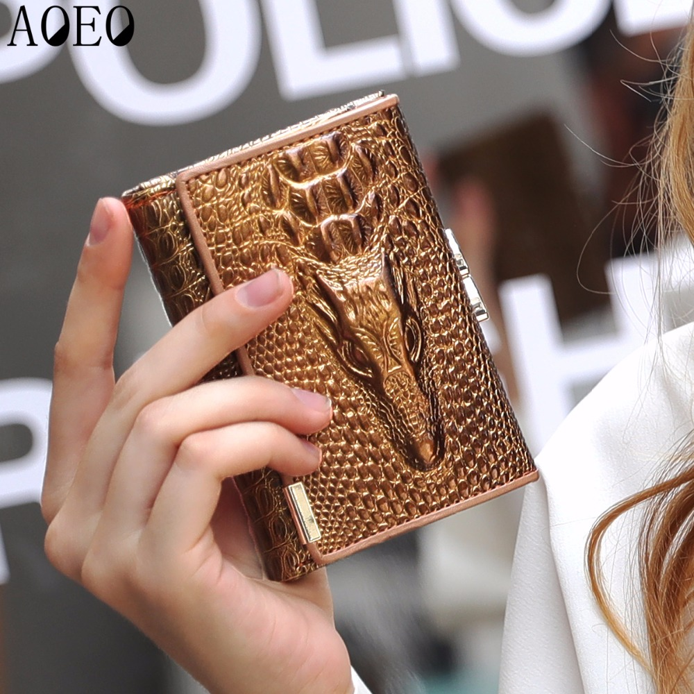 purse wallet female famous brand card holder cell Phone 2 style Long Short With lock Small Mini Leather womens wallets and purse