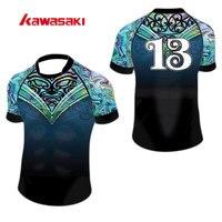 كاواساكي brand المهنية مخصص للرجبي XS-4XL الرجبي ممارسة التدريب جيرسي النساء و الرجال زائد حجم قمم قميص البلوزات