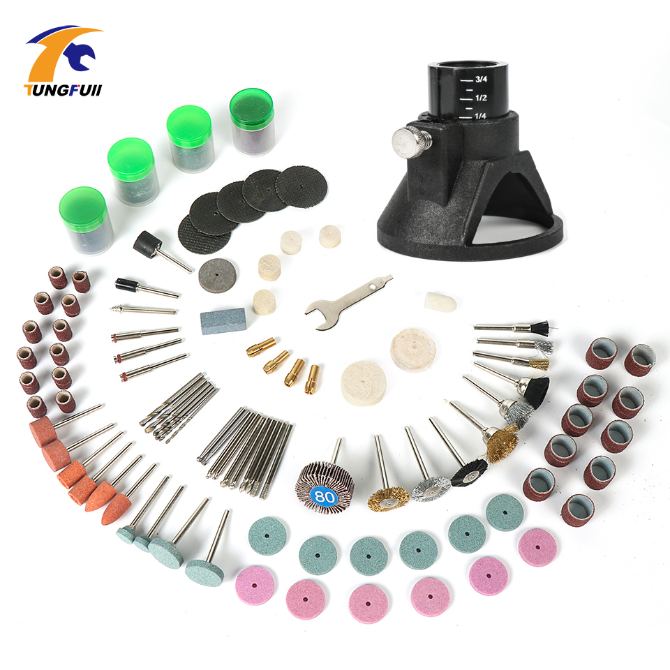 Tungfull Dremel Accessories For Rotary Tools Grinding Wheels Abrasives Locator Horn Carving Grindering Polishing Tools Kits Suit mx demel high quality 17pcs 1 2 felt polishing wheels dremel accessories fits for dremel rotary tools dremel tools small