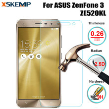 For ASUS ZenFone 3 ZE520KL Premium Tempered Glass Screen Protector Explosion proof Film Hardness No Fingerprint Protective Guard