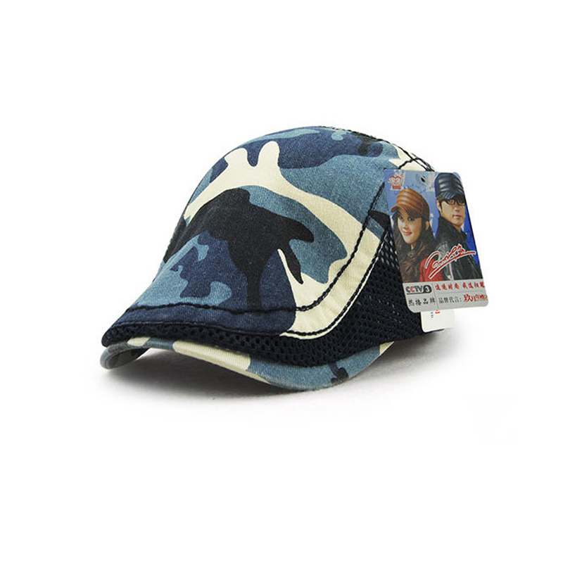 Jamont moda camuflaje Viseras boina sombreros de algodón para hombres y mujeres  Sol sombrero planas gorras planas unisex ajustable Boinas en Viseras de ... dcdad283baf
