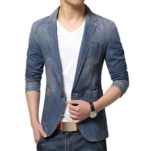 Aliexpress.com : Buy Blazer Men Trend Jeans Suits Men's Casual ...