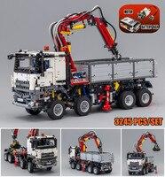 Новый дизайн серии Arocs модель грузовика наборы fit legoings техника грузовик город модель строительные блоки кирпичи 42043 малыш игрушки diy подарок