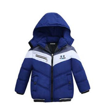 New Girls Warm Down Jackets Cotton Jacket Kids Printed Thick Outerwear Children Clothing Autumn Winter Baby Girls Hooded Coats