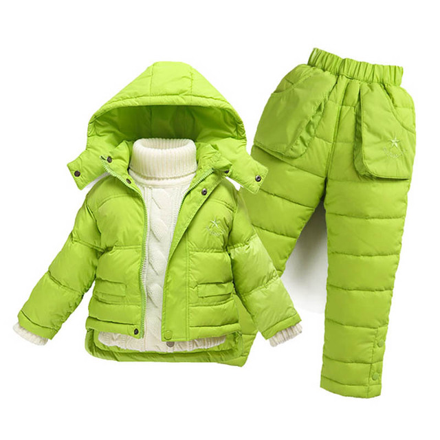 15bcb89130d4 Children Boys Snowsuit Girls Winter Clothing Down Jacket or add Down ...
