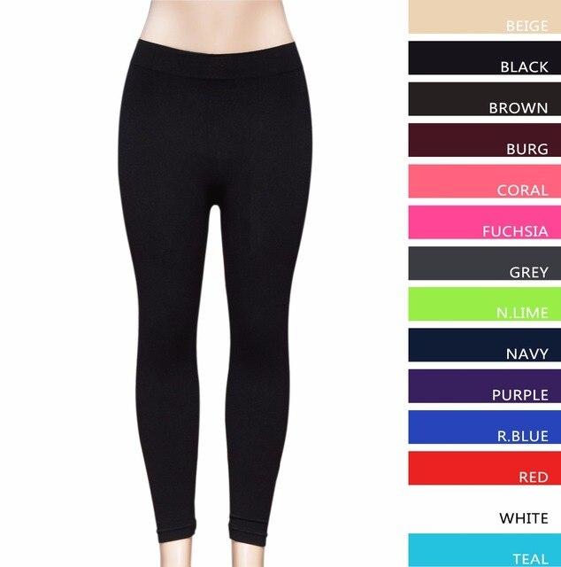f1ac8d09fc99bb China Factory Direct Free Shipping 14 Colors Seamless women Legging Nylon  Spandex Black Leggins Ladies Sexy Womens Leggings