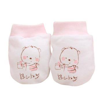 cotton pink mittens