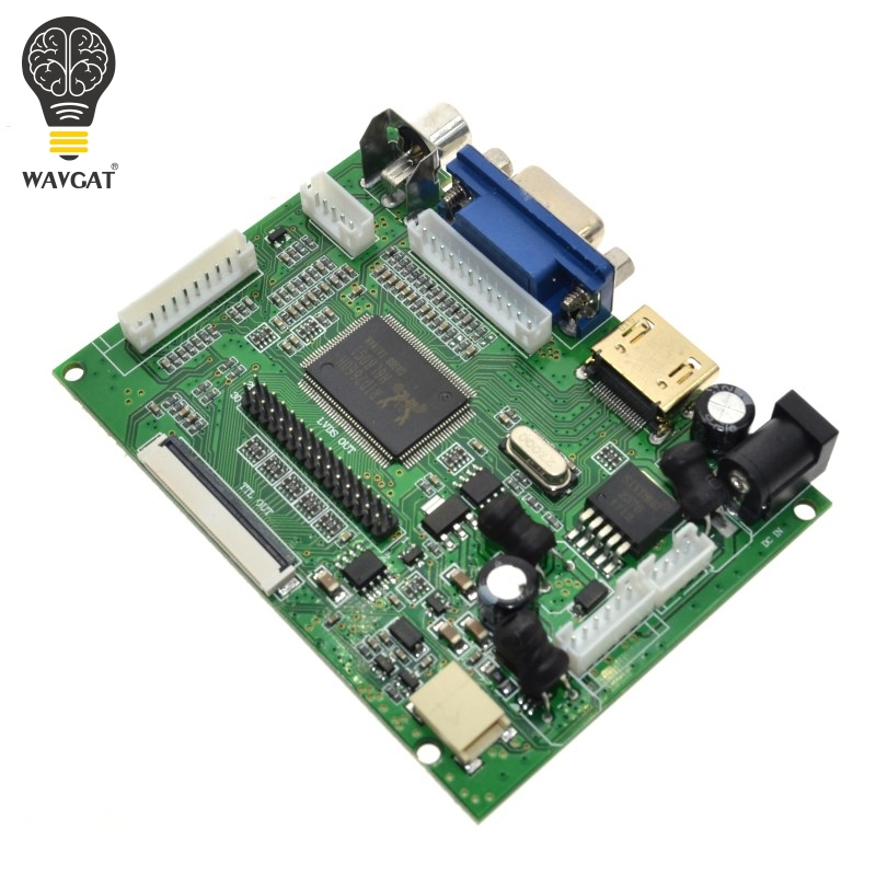 WAVGAT HDMI VGA AV Tela Módulo Para Raspberry Pi Pcduino Pi Banana não cluindo 7 polegada IPS LCD