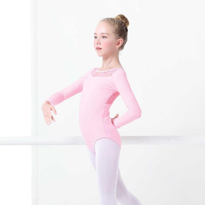 9dd9c1a2e ... Black Lace Ballet Leotards Girls Kids Vest Ballet Clothing Dancewear  Children Gymnastics Leotards ...