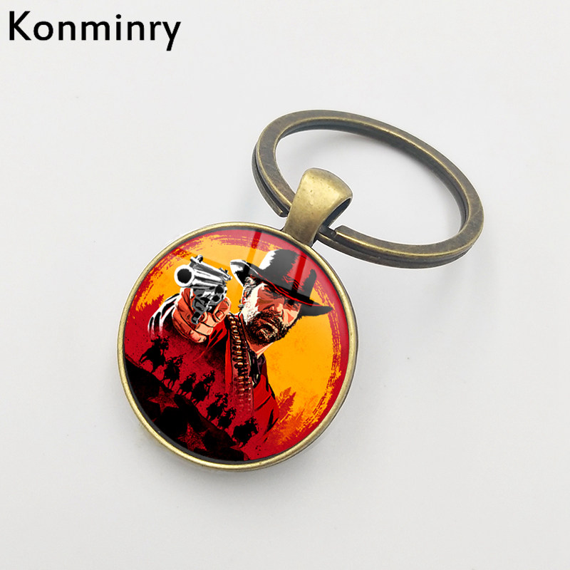 Imported From Abroad New Game Red Dead Redemption 2 Keychain Metal Key Ring Chain 3d Gun For Men Car Women Bag Jewelry Souvenir Chaveiro Llaveros Costumes & Accessories Novelty & Special Use
