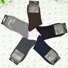 5Pair Men's Boy Thick Wool Mixture ANGORA Cashmere Warm Winter Pure Color Socks-448E