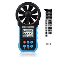 Numérique Multi-fonction Meter Anémomètre Thermomètre Hygromètre Vent Compteur de Vitesse USB En Temps Réel de Données de Température Humidité Testeur