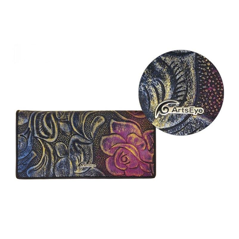 dois-dobra carteira bolsa das senhoras Material : Leather