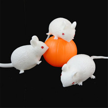 1piece Cartoon Anti Stress Face Reliever Venting Ball Mouse Squeeze Funny Tricky Toy Kids Children Gags Practical Jokes