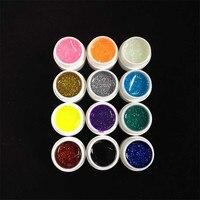 Follome 1 sztuk Kolor Paznokci Żel Polski 12 Shining Długotrwałe Pigmentu Lakier Lakier Emalia Glitter Nail DIY Narzędzia Sztuki