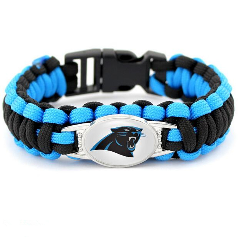 New Design Paracord Survivor Bracelet Carolina Panther Bangle Jewelry For Sports Fans Friendship Bracelets 10pcs Lot In Hologram From