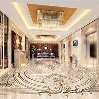 Beibehang كلاسيكي الأزياء خلفيات الزمرد إغاثة 3d ماء ذاتية اللصق الطابق النفط اللوحة papel دي parede 3d الأرضيات