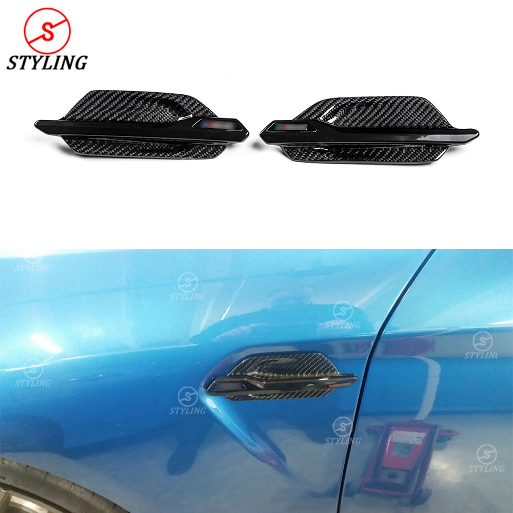 For BMW M2 F87 Carbon Fiber fender trim Cover Air Vents for decoration F87 M2 Body Side Fender Exterior Trim car styling 2014-UP stainless steel door side body garnish molding cover trim for toyota rav4 2014 2017 exterior decor strip car styling accessories