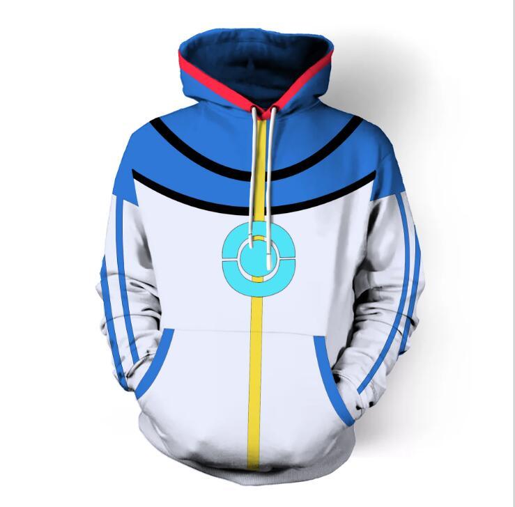 High Quality Pokemon Ash Ketchum Cosplay Costume Blue Jacket  Ash Ketchum Costumes