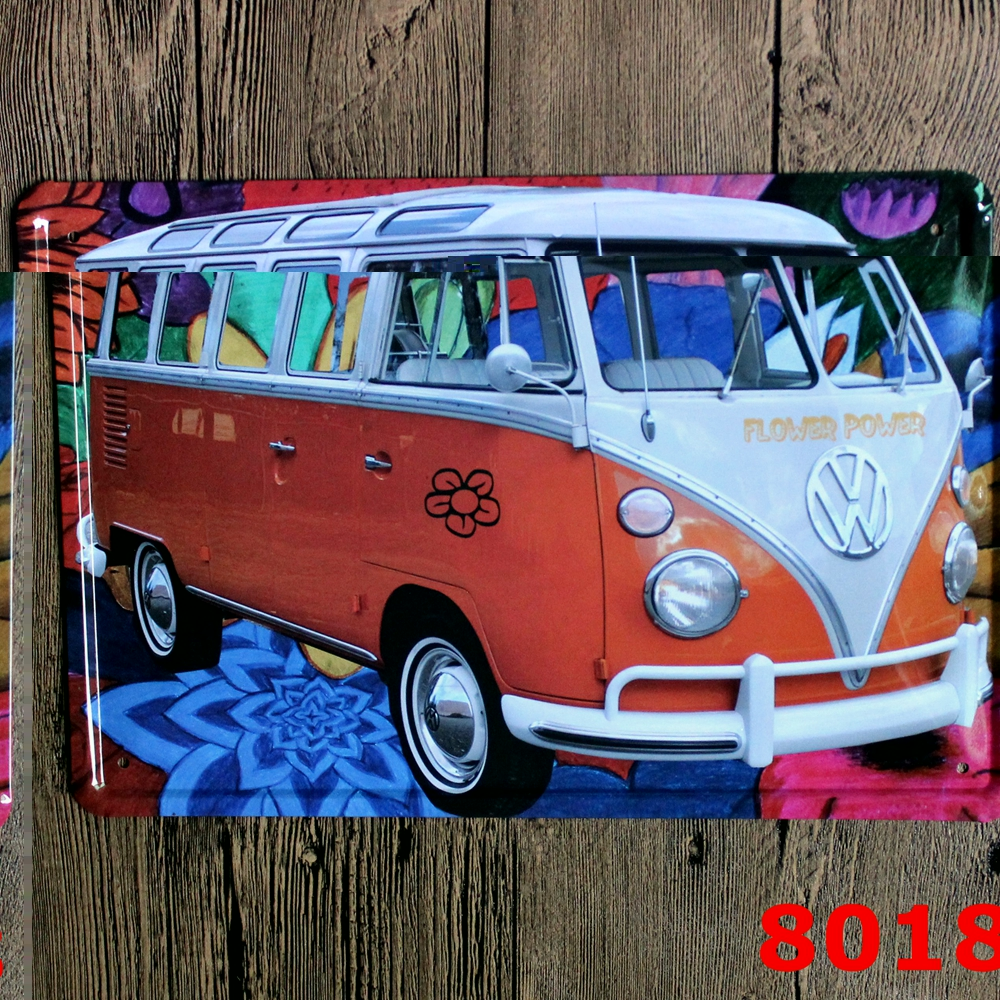 compare prices on metal garage designs online shopping buy low vintage bus poster painting 20x30cm hot sale decorative metal plate tin signs decor ktv garage wall
