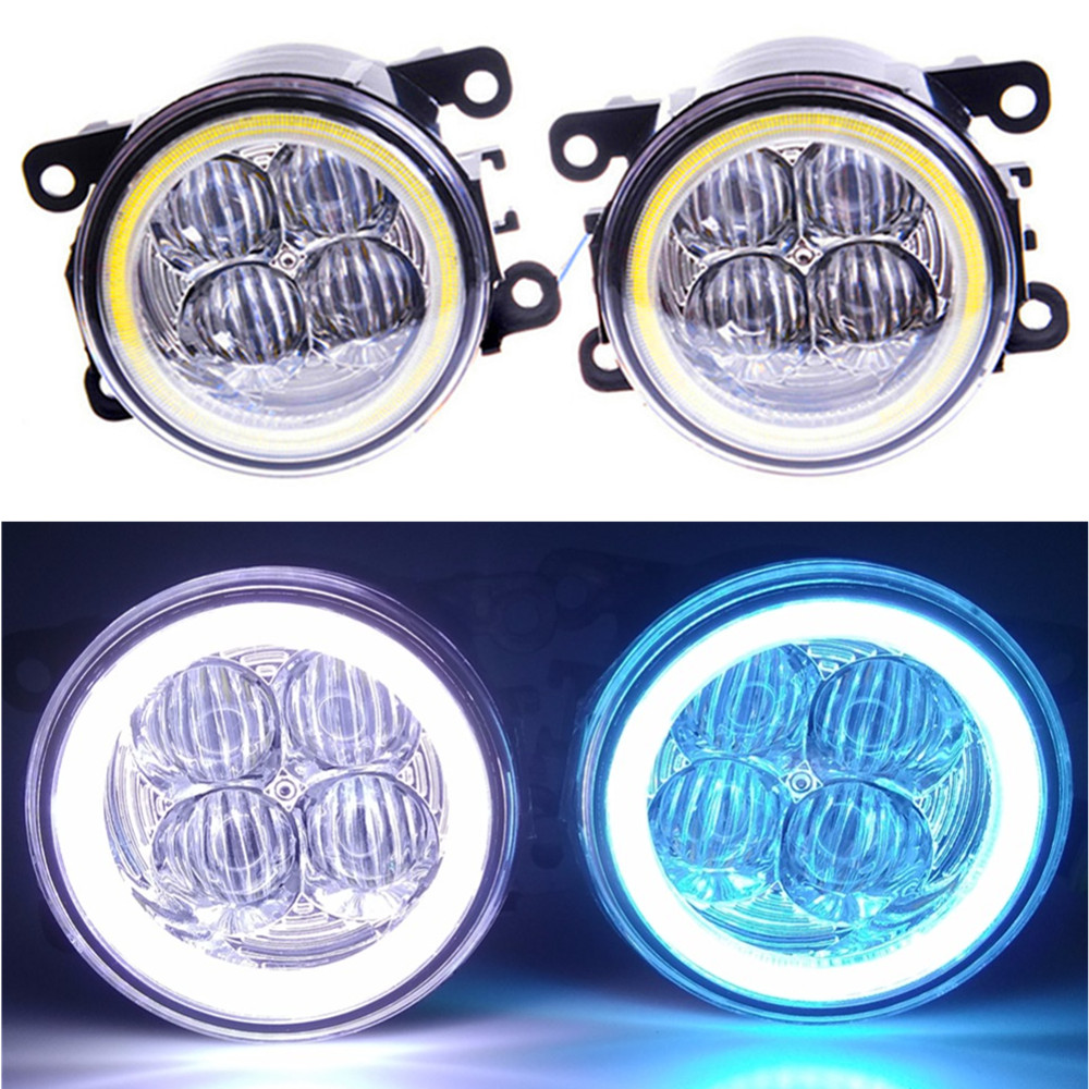 For DACIA Duster Sandero LOGAN 2004-2015 Car styling Angel eyes Fog Lamps LED Fog Lights android 5 1 1 car audio dvd player gps for renault dacia duster logan sandero multimedia navigation head device unit receiver