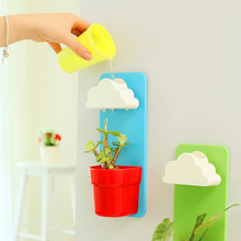 Diy Cloud Rainy Flower Pot With Soil and Seeds wall-hung Plant bonsai home & garden Decoration Decor